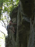 Rock Climbing Photo: The END! The upper crux is amazing. This had only ...