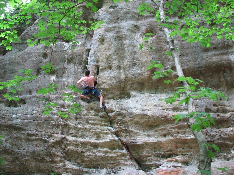Rock Climbing Photo: Handjam!