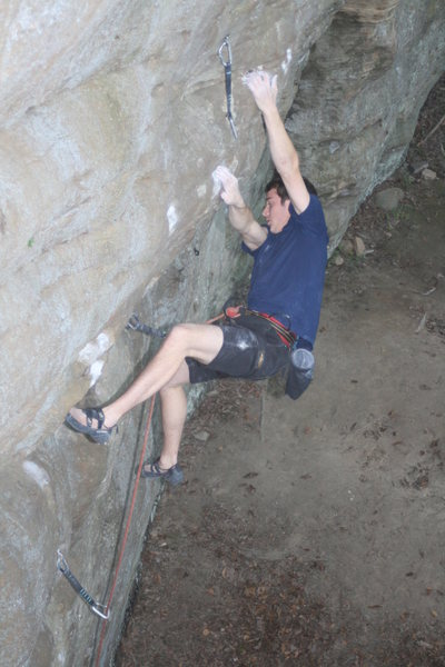 One of many great routes on Beaver Wall
