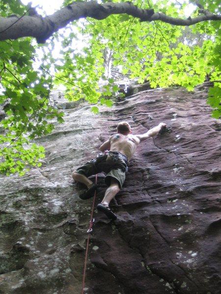 Rock Climbing Photo: one knob...