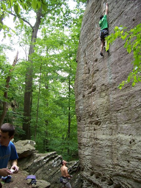 Rock Climbing Photo: Nick T on the classic Hidden Treasure