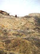 Rock Climbing Photo: Paul starting P1