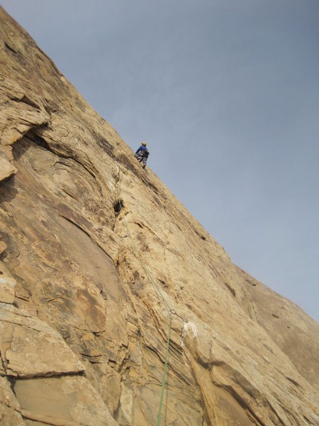 Rock Climbing Photo: Andy at the crux section P3
