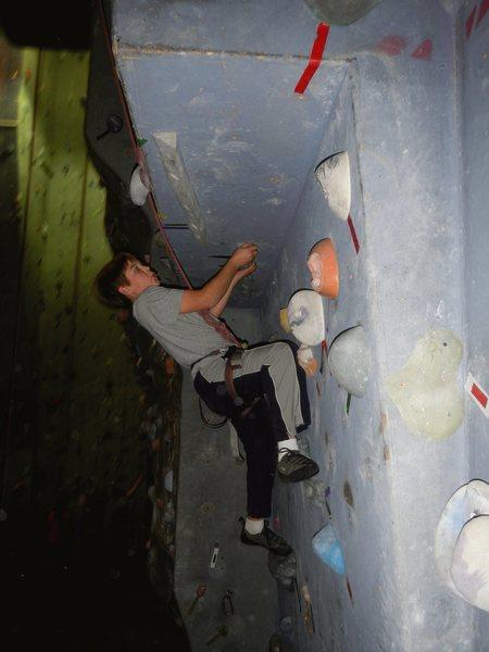 Rock Climbing Photo: Crushing 5.8!