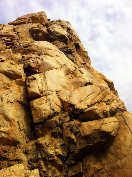 Rock Climbing Photo: DPT = straight up the bottom of the obvious vertic...