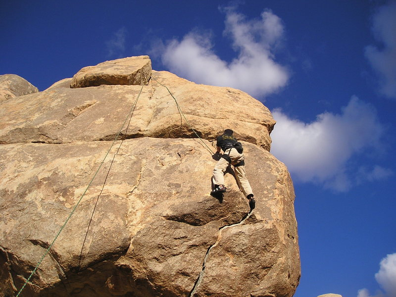 Rock Climbing Photo: Unknown climber on what used to be called Family F...
