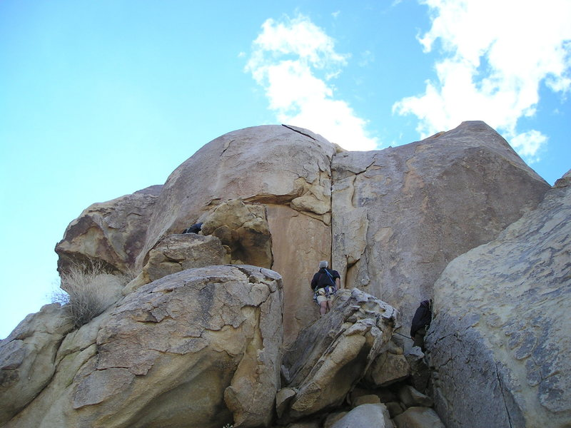 Rock Climbing Photo: I believe this is the crack left of Early Retireme...