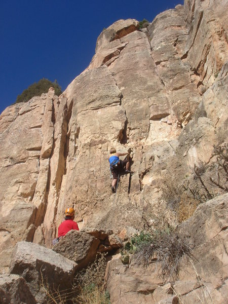 Rock Climbing Photo: Sadie starting up You Show Me Your Heavy Weapon, I...