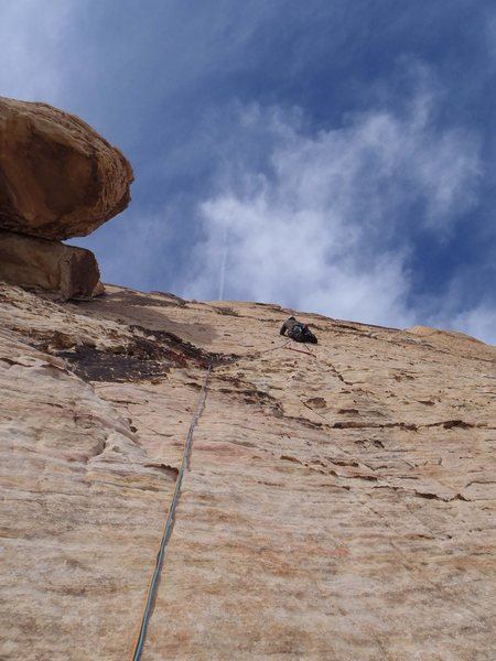 Rock Climbing Photo: Arch Enemy Pitch 3 finger crack. You need to do it...