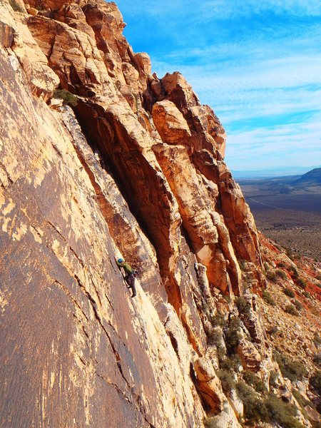 Rock Climbing Photo: New Zealand climber on Johnny Vegas