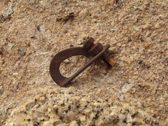 """Rock Climbing Photo: This was the lst bolt on P2 of """"Goldline.&quo..."""
