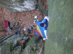 Rock Climbing Photo: looking down Porcelain at Mt. Gretna
