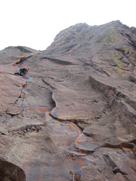 Rock Climbing Photo: Bastille Crack - First pitch