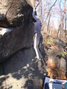 Rock Climbing Photo: A pretty gnarly fall followed this frame.