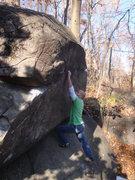 Rock Climbing Photo: Gaining the face on Hang Ten