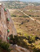Rock Climbing Photo: Eric Scherch rocking Glamdring while Bandit belays...