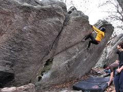 Rock Climbing Photo: Sheila making the send.