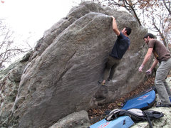 Rock Climbing Photo: Elliot for the send