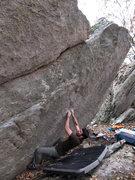 Rock Climbing Photo: Steve on the sit start