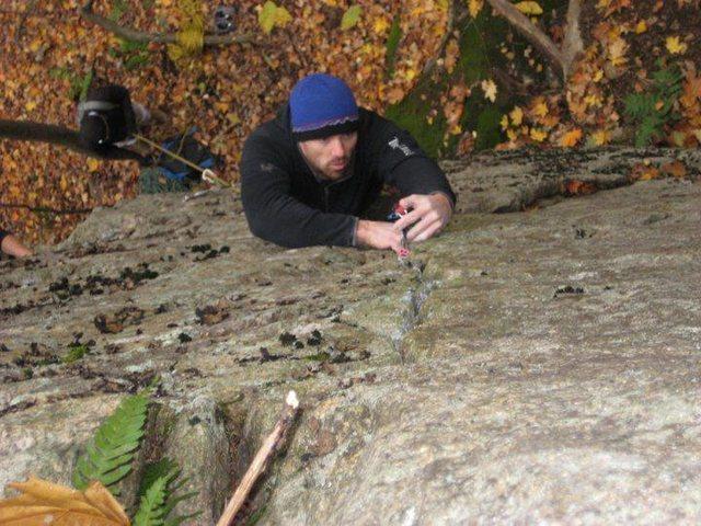 Rock Climbing Photo: Tyler at second crux