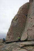 Rock Climbing Photo: Nathan Fitzhugh belayed by Agina Sedler.