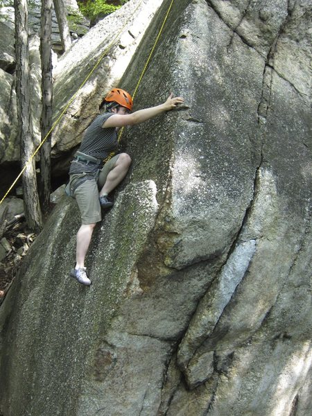 Rock Climbing Photo: Pebbles 5.7, The Gunks