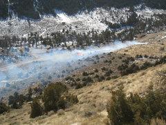 Rock Climbing Photo: The start of the fire.