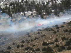 Rock Climbing Photo: Flames.  It got much worse.