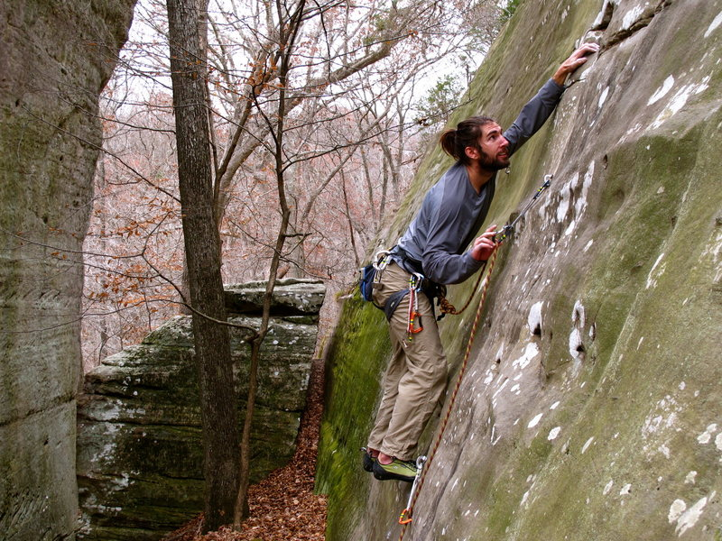 Rock Climbing Photo: Phil K. on Fine Nine.