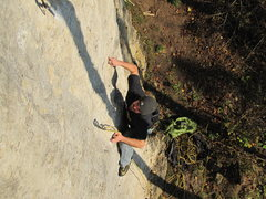 Rock Climbing Photo: Me enjoying the fun one and two finger pockets on ...