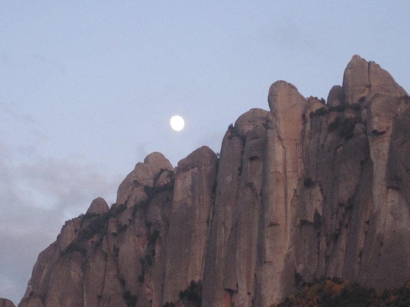 Rock Climbing Photo: montserrat illuminated