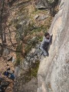 "Rock Climbing Photo: ""The Imaginary Hold"" - Arnaud determined..."