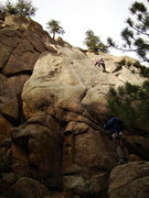 Rock Climbing Photo: Ivan at the crux. Harder than it looks from the gr...