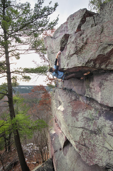 Rock Climbing Photo: Darin Limvere on American Dream Roof. Nov 12, 2011...