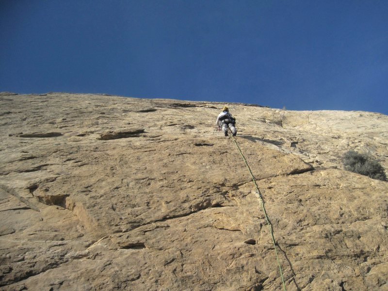 Rock Climbing Photo: Andy starting P1