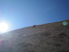 Rock Climbing Photo: Paul higher on P2