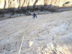 Rock Climbing Photo: Andy following P2
