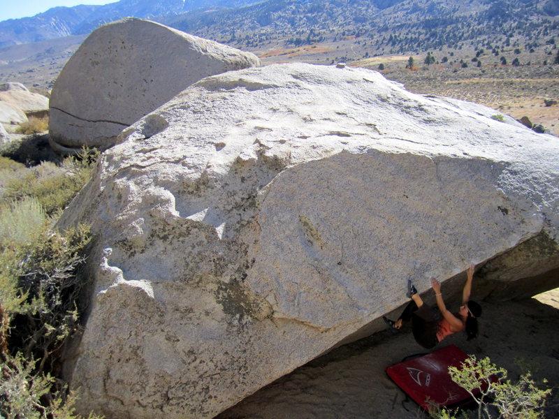 Rock Climbing Photo: The slopey beginning.  Tessa Opperman on the initi...
