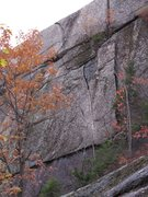 Rock Climbing Photo: LITB follows the obvious finger crack then moves u...