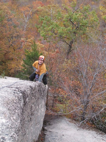 Rock Climbing Photo: Nearing the summit of The Flatiron