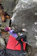 Rock Climbing Photo: Teal Dreher sending
