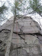 Rock Climbing Photo: Follows the crack system just right of the rope.