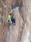 Rock Climbing Photo: stylin' one of the many 5.9- moves on the long and...