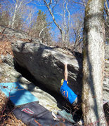Rock Climbing Photo: Steve on Shang-Low Blow
