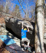 Rock Climbing Photo: Steve on Shang-Low Blow