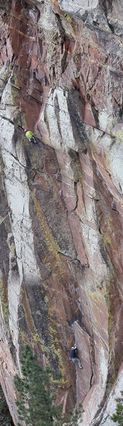 Rock Climbing Photo: panorama...slightly tilted but worthy because the ...