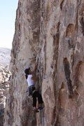 Rock Climbing Photo: Mr. Misty Kiss (5.7), Joshua Tree NP
