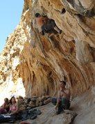 Rock Climbing Photo: Me leading 'No sleep 'till Hammersmith' 12a