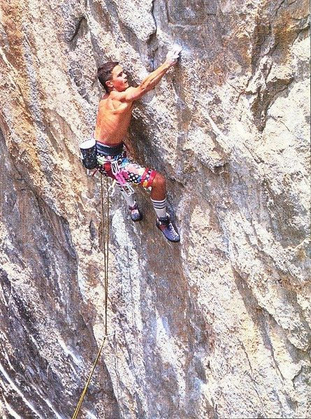 Rock Climbing Photo: Kurt Smith on Scene of the Crime (5.12c/d), Indepe...