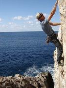 Rock Climbing Photo: Classic 10a at Dolphin Bay.